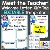Meet the Teacher Template Editable Print & Digital Ocean Fish Theme