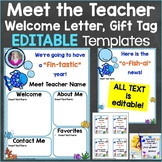 Meet the Teacher Template Editable Print & Digital Ocean F