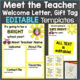 Meet the Teacher Template Editable Print & Digital Summer