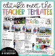 Meet the Teacher Template Editable {Two Volume Bundle}