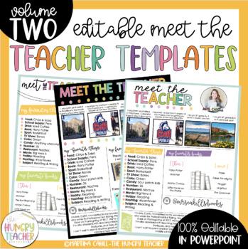 Free Meet The Teacher Template | Teachers Pay Teachers