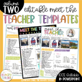 Meet the Teacher Template Editable {Volume Two}