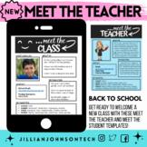 *MEET THE TEACHER Template & MEET THE STUDENTS Back to Sch