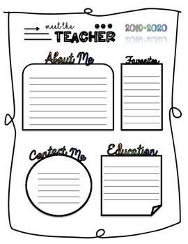Meet the Teacher Template (Editable version available!)