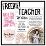 Meet the Teacher Template - Freebie