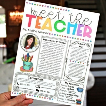 Meet the Teacher Template Editable Meet the Teacher Letter Open House Printables