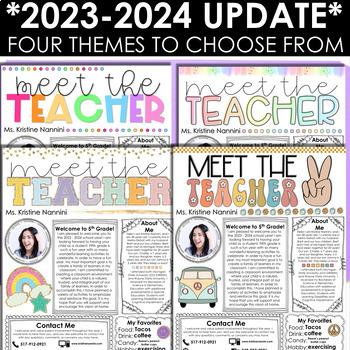 Meet the Teacher Template Editable Meet the Teacher Letter Back to School Night