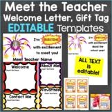 Meet the Teacher Template Print & Digital Fireworks Theme