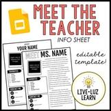 Meet the Teacher Template on Google Slides™ - Editable