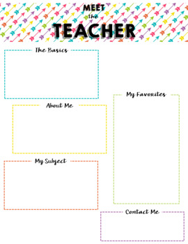 Meet the Teacher Templates