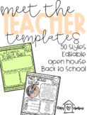 Meet the Teacher Letter- Editable Template