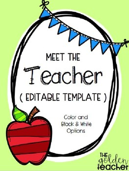 Meet the Teacher Letter Templates - EDITABLE