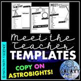 EDITABLE Meet the Teacher Templates: Galaxy Classroom Decor Space Theme