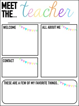 Meet the Teacher Templates {Editable}