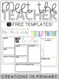 Meet the Teacher Templates {Editable}