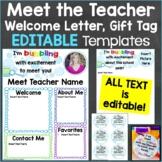 Meet the Teacher Templates Editable Print & Digital Bubble Theme