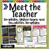 Meet the Teacher Templates  and Station Signs -Editable Br