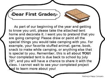 Meet the Teacher Tent Project: Editable