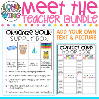 Meet the Teacher Toolkit EDITABLE