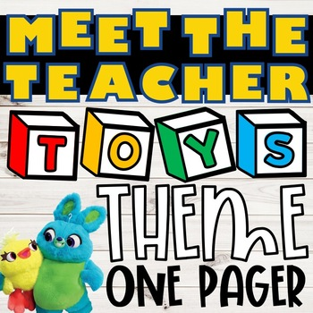 Meet the Teacher One Pager:: Toys Theme