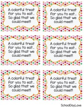 Meet the Teacher Treat Tag