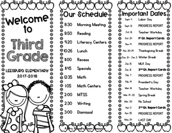 Meet the Teacher Tri-fold Brochure {EDITABLE}