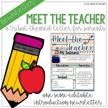 Meet the Teacher - Tribal Theme