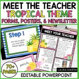 Meet the Teacher-Tropical Theme