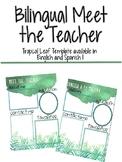 Meet the Teacher Tropical - Editable and Bilingual