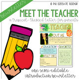 Meet the Teacher - Tropical Theme