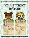 Meet the Teacher- Tropical Themed
