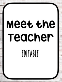 Meet the Teacher - Variety Pack