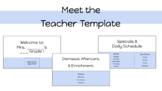 Meet the Teacher: Virtual (Google Slides)