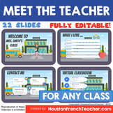 Meet the Teacher Virtual -back to school(English for any c