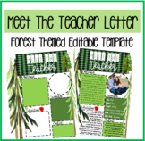 Meet the Teacher Watercolor FOREST TREES/Editable Template!