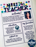 EDITABLE Meet the Teacher Watercolor Template