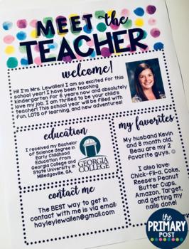EDITABLE Meet the Teacher Template