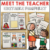 Meet the Teacher Back to School Night Open House Pamphlet Editable