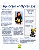 Meet the Teacher Welcome Letter 2015