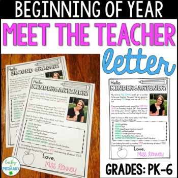 Meet the Teacher Welcome Letter