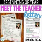 Meet the Teacher Welcome Letter