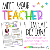 Meet the Teacher | Editable Welcome Letter Template | Includes Spanish & French!