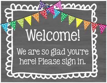 Meet the Teacher Welcome Stations