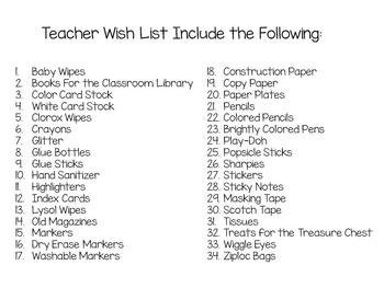 Meet the Teacher Wishlist: Stars