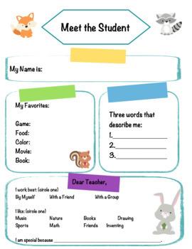 Meet the Teacher ***Woodland Theme***