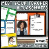 Meet the Teacher & Classmates Slideshow Templates | Digita