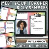 Virtual Meet the Teacher Editable Templates Back To School