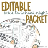Meet the Teacher and Back to School Night Bundle