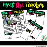 Meet the Teacher and Monthly Newsletter Templates
