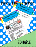 Meet the Teacher and Newsletter Template, Colorful and Pic